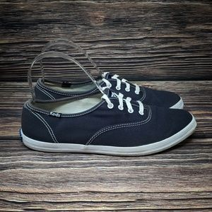Keds Sz 7.5 Classic Navy Blue Canvas Sneakers